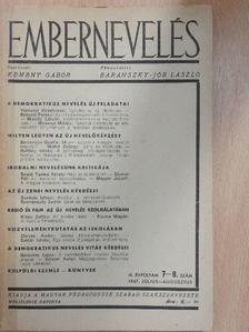 Bakonyi Ferenc - Embernevelés 1947. július-augusztus [antikvár]
