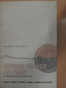 G. L. Bach - Economic Analysis and Policy [antikvár]
