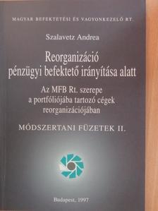 Szalavetz Andrea - Reorganizáció pénzügyi befektető irányítása alatt [antikvár]