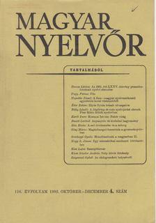 Lőrincze Lajos - Magyar Nyelvőr 116. évf. 1992/4. [antikvár]