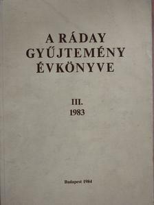 Balogh István - A Ráday gyűjtemény évkönyve III. [antikvár]