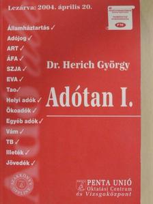 Dr. Herich György - Adótan I. [antikvár]