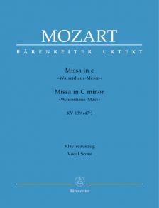 "MOZART, W,A, - MISSA IN c ""WAISENHAUS-MESSE"" KV 139 (47a) KLAVIERAUSZUG URTEXT (M.FOCKE)"