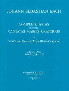 J. S. Bach - COMPLETE ARIAS FROM THE CANTATAS - MASSES - ORATORIOS FOR SOLO VOICE, FLUTE AND PIANO (BC) VOL.4