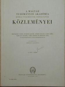 Kiss Árpád - A Magyar Tudományos Akadémia Kémiai Tudományok Osztályának Közleményei [antikvár]