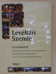 Apró Erzsébet - Levéltári Szemle 2006/1. [antikvár]