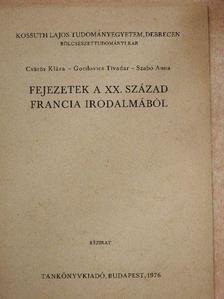 Csűrös Klára - Fejezetek a XX. század francia irodalmából [antikvár]