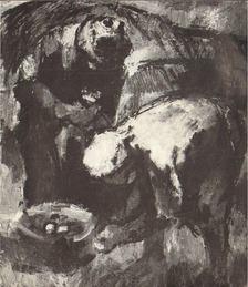 BORSOS MIKLÓS - Iván Szilárd festőművész kiállításának megnyitása (meghívó) [antikvár]
