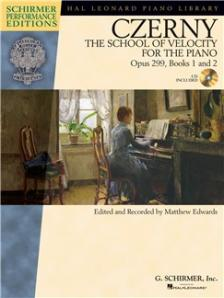 CZERNY - THE SCHOOL OF VELOCITY FOR THE PIANO OP.299, BOOKS 1 AND 2, CD INCLUDED