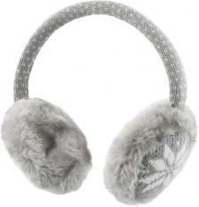 Streetz HL-252 Sztereo headset és fülmelegítő, szőrmés szürke/fehér