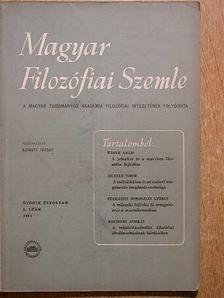 Huszár Tibor - Magyar Filozófiai Szemle 1961/5. [antikvár]