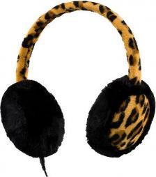Streetz HL-297 Sztereo headset és fülmelegítő, szőrmés, tigris minta