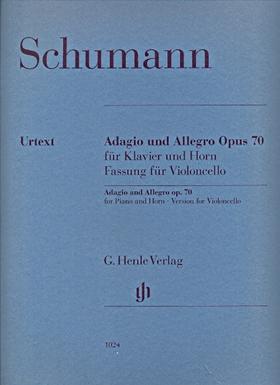 Schumann, Robert - ADAGIO UND ALLEGRO OP.70 FÜR KLAVIER UND HORN, FASSUNG FÜR VIOLONCELLO UND KLAVIER URTEXT