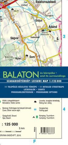 Balaton és környéke (térkép)