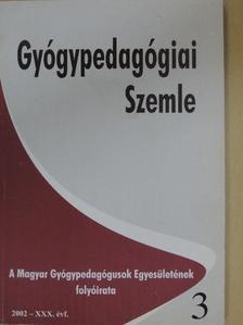 Subosits István - Gyógypedagógiai szemle 2002. július-szeptember [antikvár]