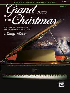 GRAND DUETS FOR CHRISTMAS. 8 ELEMENTARY ARR. AFOR ONE PIANO, FOUJR HANDS, BOOK 2