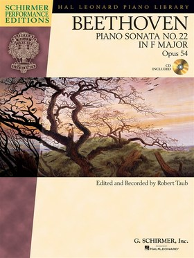 BEETHOVEN - PIANO SONATA NO.22 IN F MAJOR OP.54, CD INCLUDED