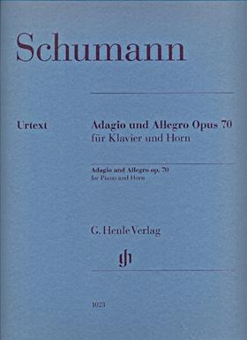 Schumann, Robert - ADAGIO UND ALLEGRO OP.70 FÜR KLAVIER UND HORN URTEXT (ERNST HERTTRICH / KLAUS SCHILDE)