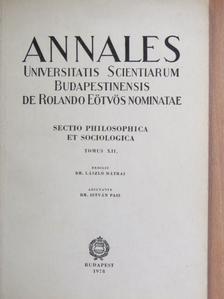 Dr. Mátrai László - Annales Universitatis Scientiarum Budapestinensis de Rolando Eötvös Nominatae XII. [antikvár]