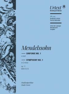MENDELSSOHN - SINFONIE NR.1 c-MOLL OP.11 MWV N 13