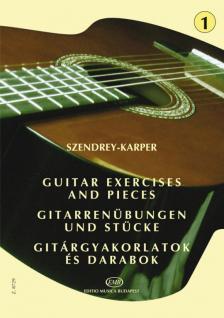 SZENDREY - KARPER - GITÁRGYAKORLATOK ÉS DARABOK 1