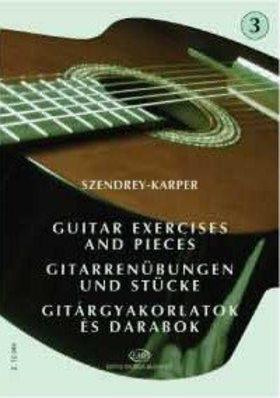 SZENDREY - KARPER - GITÁRGYAKORLATOK ÉS DARABOK 3