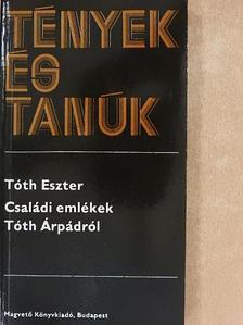 Tóth Eszter - Családi emlékek Tóth Árpádról [antikvár]