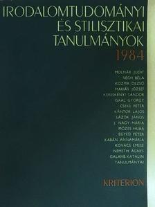 Cseke Péter - Irodalomtudományi és stilisztikai tanulmányok 1984 [antikvár]
