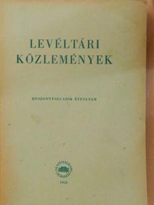Bottló Béla - Levéltári közlemények XXVIII. [antikvár]