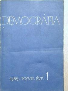 Dr. Erdősi Ferenc - Demográfia 1985/1-4. [antikvár]