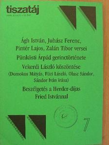 Ágh István - Tiszatáj 1999. július [antikvár]