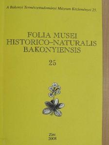 Abonyi András - Folia Musei Historico-Naturalis Bakonyiensis 25. [antikvár]