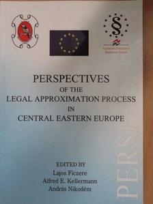 Attila Harmathy - Perspectives of the Legal Approximation Process in Central Eastern Europe [antikvár]