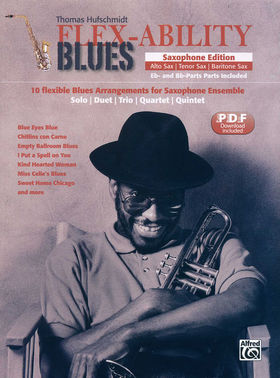 HUFSCHMIDT, THOMAS - FLEX-ABILITY BLUES. SAXOPHONE EDITION, PDF DOWNLOAD INCLUDED