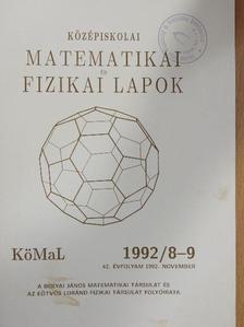 Pelikán József - Középiskolai matematikai és fizikai lapok 1992. november [antikvár]