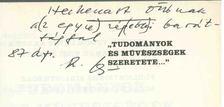 """Rózsa György - ,,Tudományok és művészségek szeretete..."""" (dedikált) [antikvár]"""