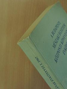 Cserhalmi Gyula - A Budapesti Műszaki Egyetem Központi Könyvtárának Évkönyvei I. [antikvár]