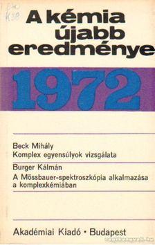 Csákvári Béla - A kémia újabb eredményei 1972. 9. kötet [antikvár]
