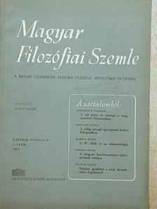 B. M. Kedrov - Magyar Filozófiai Szemle 1962/1. [antikvár]
