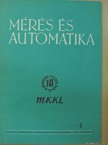 Bikfalvi István - Mérés és automatika 1968/4. [antikvár]