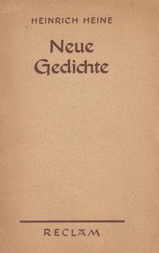 Heine, Heinrich - Neue Gedichte [antikvár]