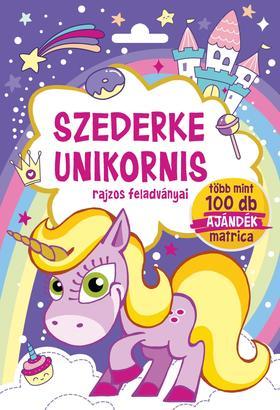 Szalay Könyvkiadó - Szederke Unikornis - Rajzos feladványai - Több mint 100 db ajándék matrica