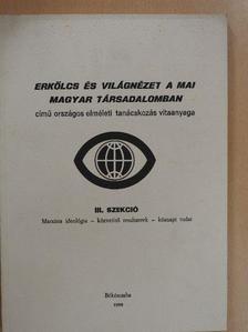 Ágh Attila - Erkölcs és világnézet a mai magyar társadalomban III. szekció [antikvár]