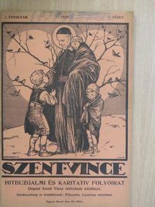 Kiss Antal - Szent Vince 1929. január [antikvár]