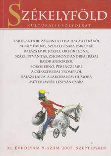 Ferenczes István - Székelyföld 2007.szeptember [antikvár]