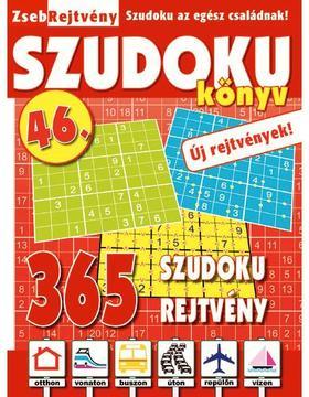 CSOSCH KIADÓ - ZsebRejtvény SZUDOKU Könyv 46.
