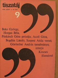 Aczél Géza - Tiszatáj 1990. szeptember [antikvár]