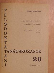 Berecz János - Felsőoktatási tanácskozások 26 [antikvár]