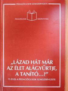 """Borbáth Gábor - """"Lázad hát már az élet alágyűrtje, a tanító...?"""" [antikvár]"""