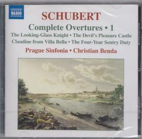 SCHUBERT - COMPLETE OVERTURES VOL.1 CD BENDA, PRAGUE SINFONIA